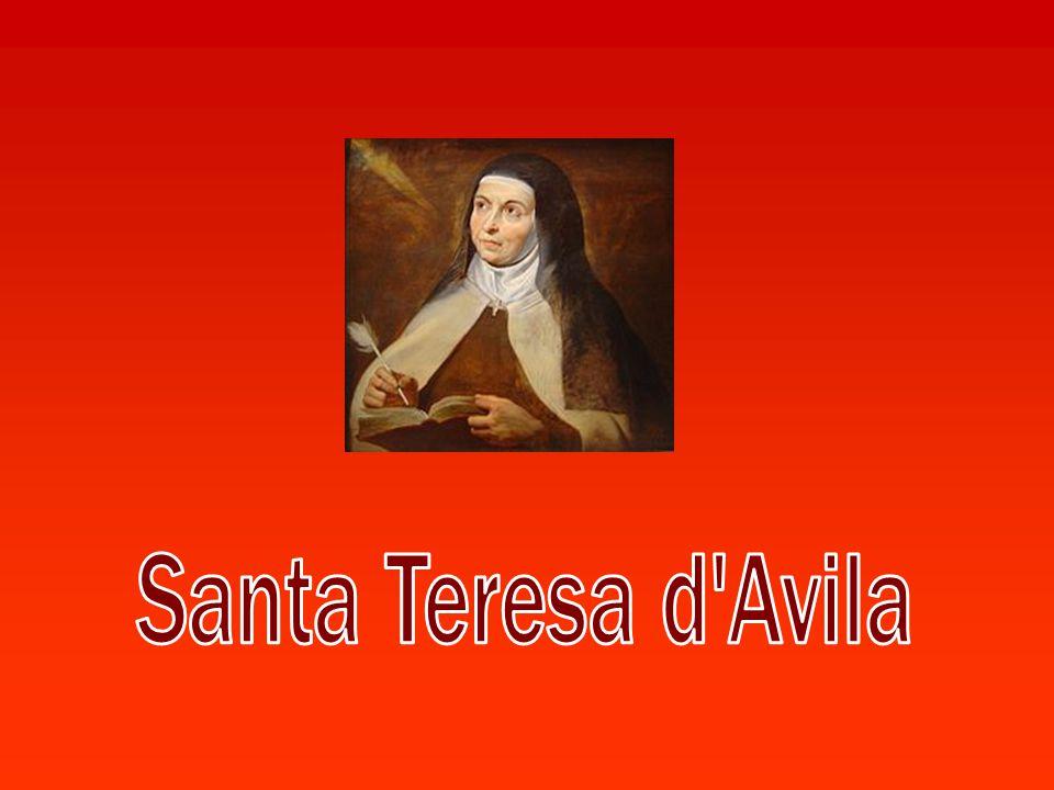 All'età di 20 anni, entra nel monastero carmelitano dell Incarnazione, sempre ad Avila; nella vita religiosa assume il nome di Teresa di Gesù.