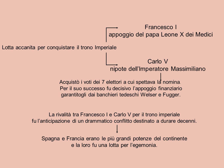 Lotta accanita per conquistare il trono Imperiale Carlo V nipote dell'Imperatore Massimiliano Francesco I appoggio del papa Leone X dei Medici Acquist