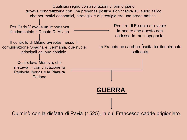 Qualsiasi regno con aspirazioni di primo piano doveva concretizzarle con una presenza politica significativa sul suolo italico, che per motivi economi