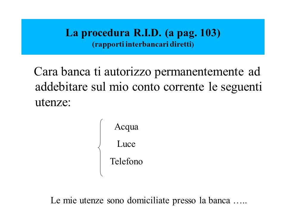 La procedura R.I.D. (a pag.