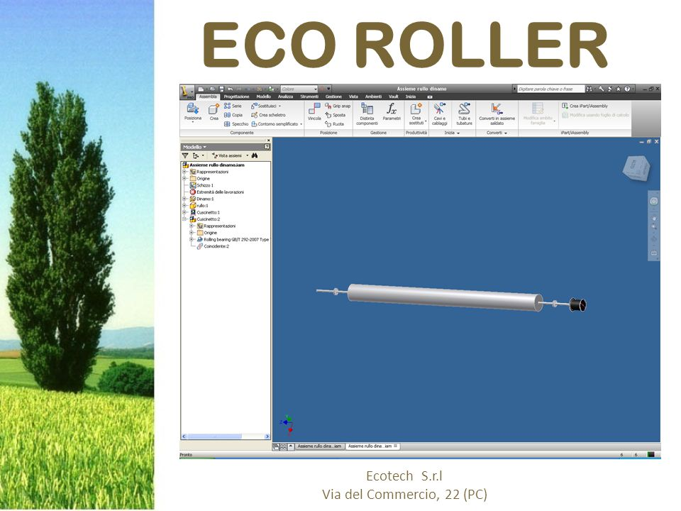 We are going to produce a green energy producer eco roller.