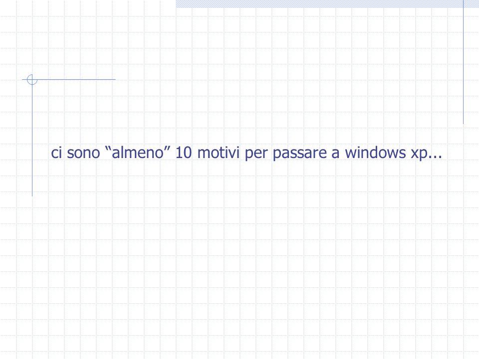 """ci sono """"almeno"""" 10 motivi per passare a windows xp..."""