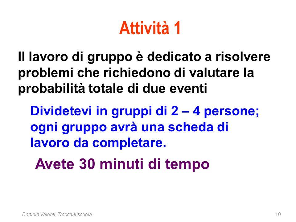 10Daniela Valenti, Treccani scuola Dividetevi in gruppi di 2 – 4 persone; ogni gruppo avrà una scheda di lavoro da completare. Avete 30 minuti di temp
