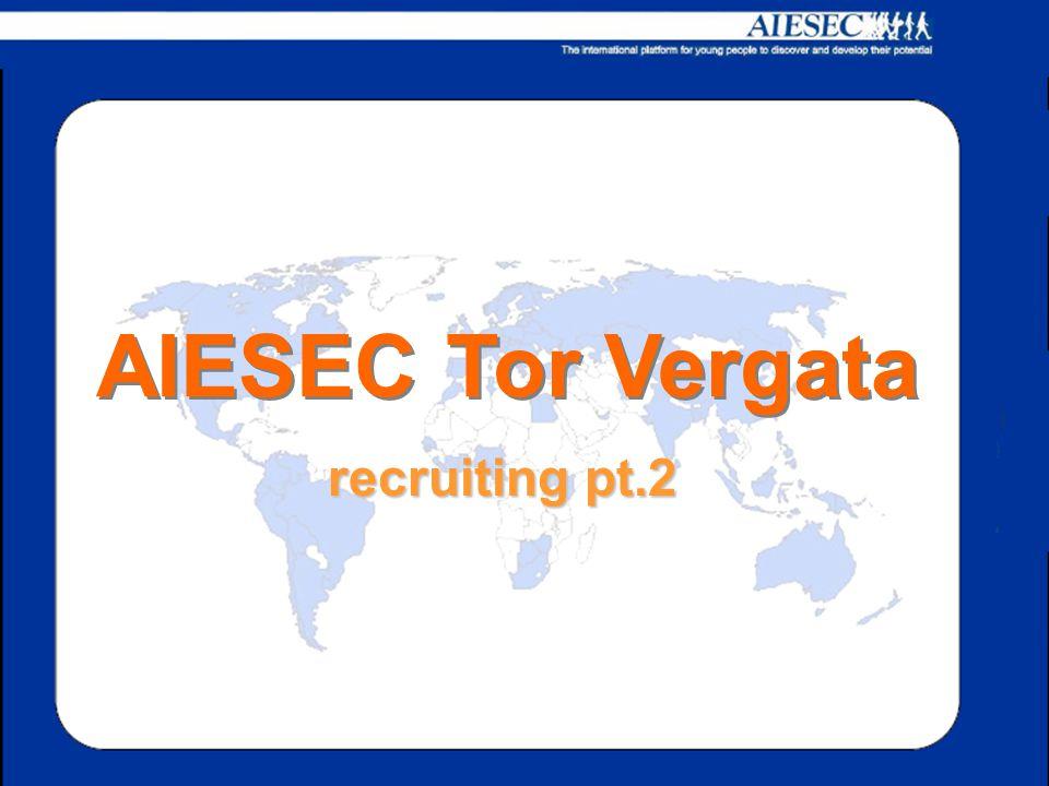 recruiting pt.2 AIESEC Tor Vergata