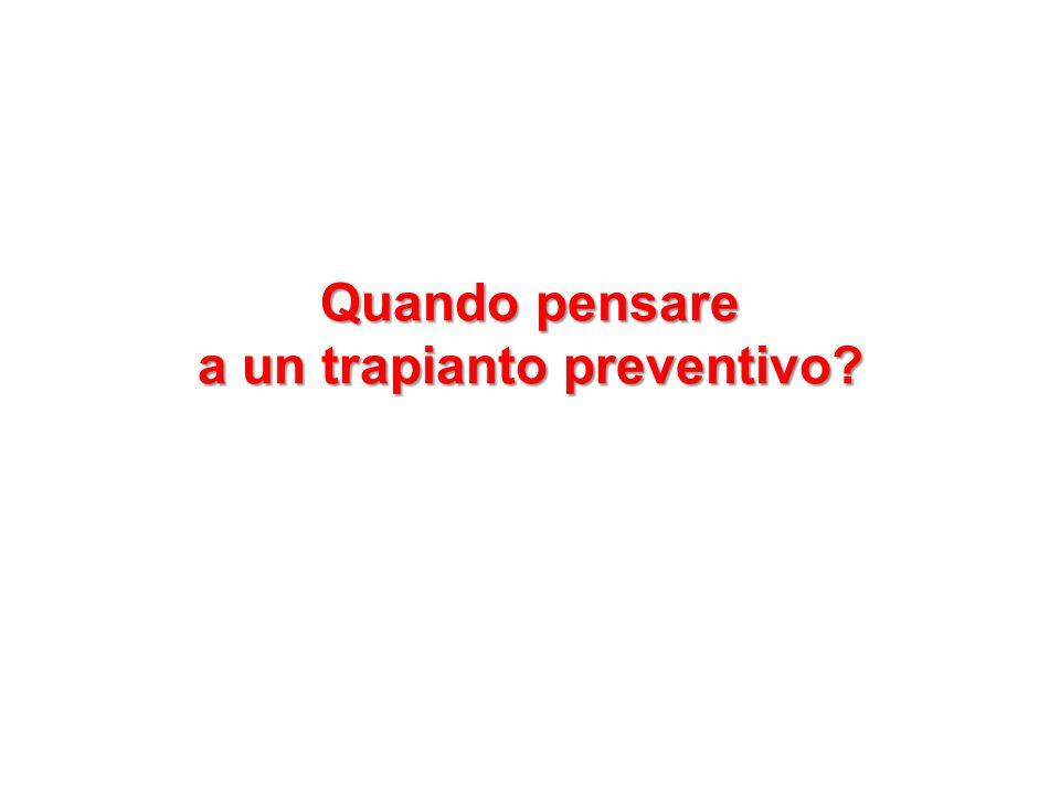 Quando pensare a un trapianto preventivo?