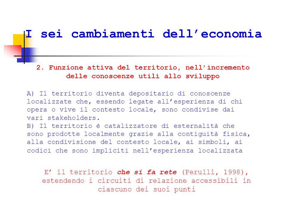 I sei cambiamenti dell'economia 2.