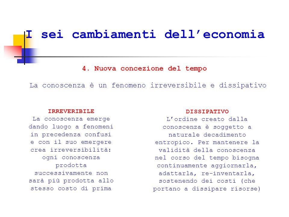 I sei cambiamenti dell'economia 4.