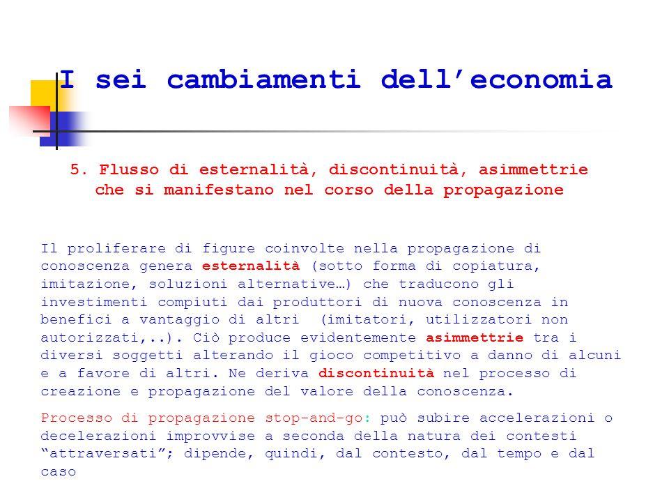 I sei cambiamenti dell'economia 5.