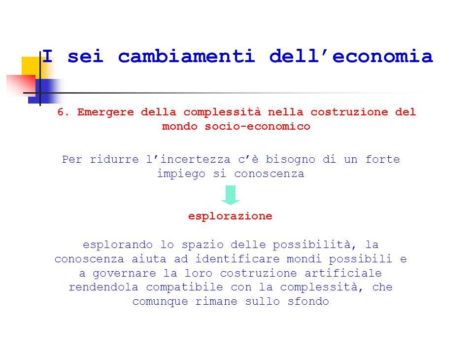 I sei cambiamenti dell'economia 6.