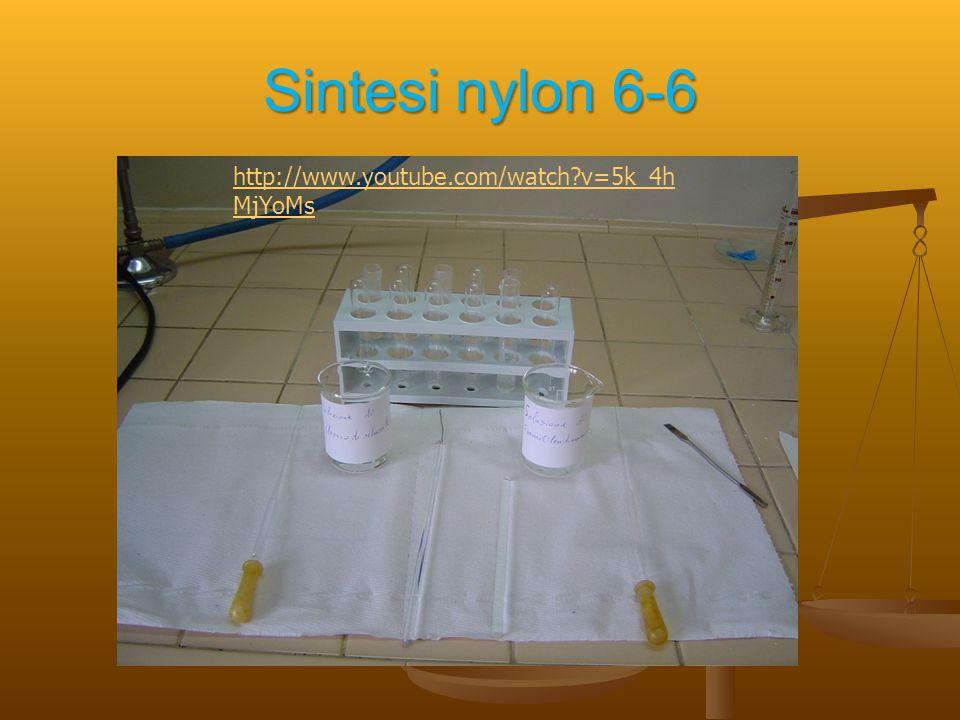 Sintesi nylon 6-6 http://www.youtube.com/watch?v=5k_4h MjYoMs
