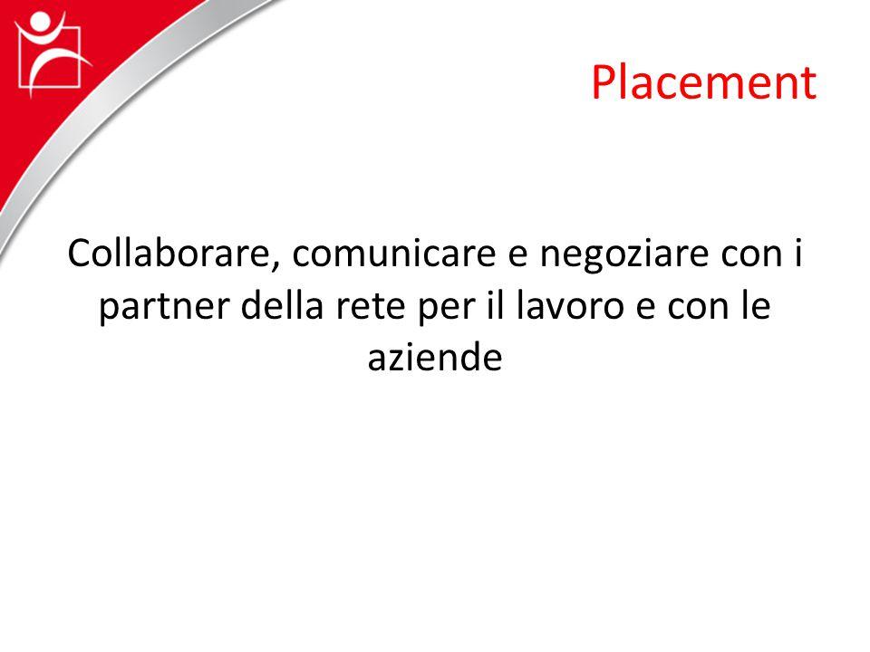 Placement Collaborare, comunicare e negoziare con i partner della rete per il lavoro e con le aziende