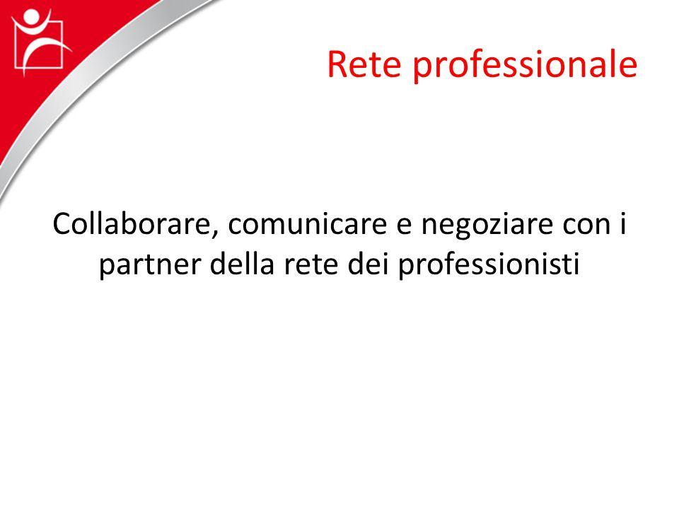 Rete professionale Collaborare, comunicare e negoziare con i partner della rete dei professionisti