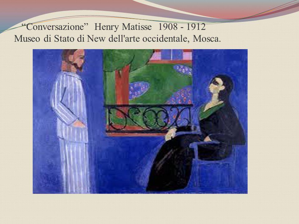 Conversazione Henry Matisse 1908 - 1912 Museo di Stato di New dell arte occidentale, Mosca.