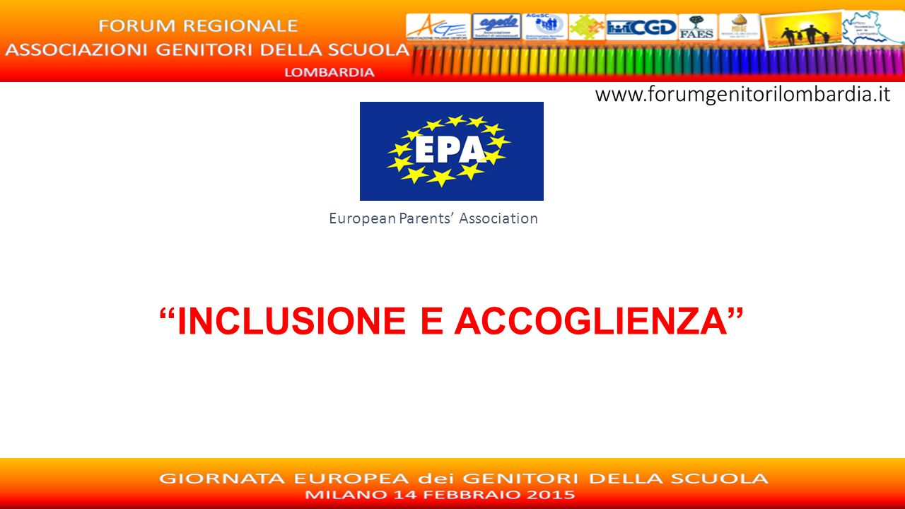 "European Parents' Association ""INCLUSIONE E ACCOGLIENZA"""