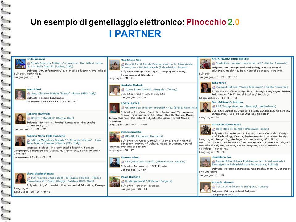Un esempio di gemellaggio elettronico: Pinocchio 2.0 I PARTNER