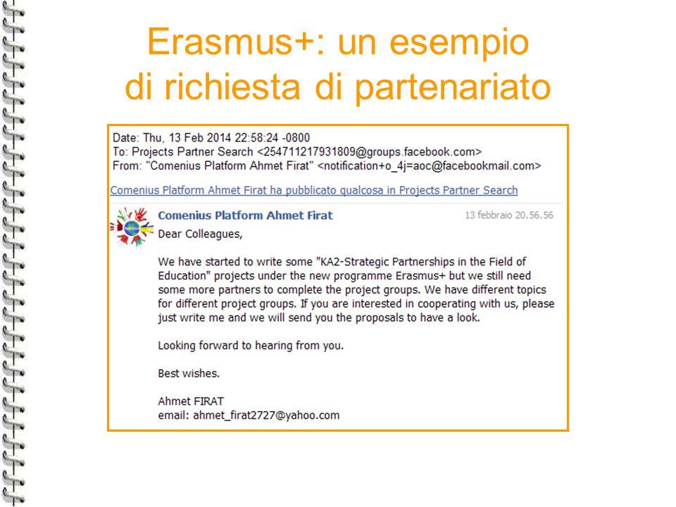 Erasmus+: un esempio di richiesta di partenariato