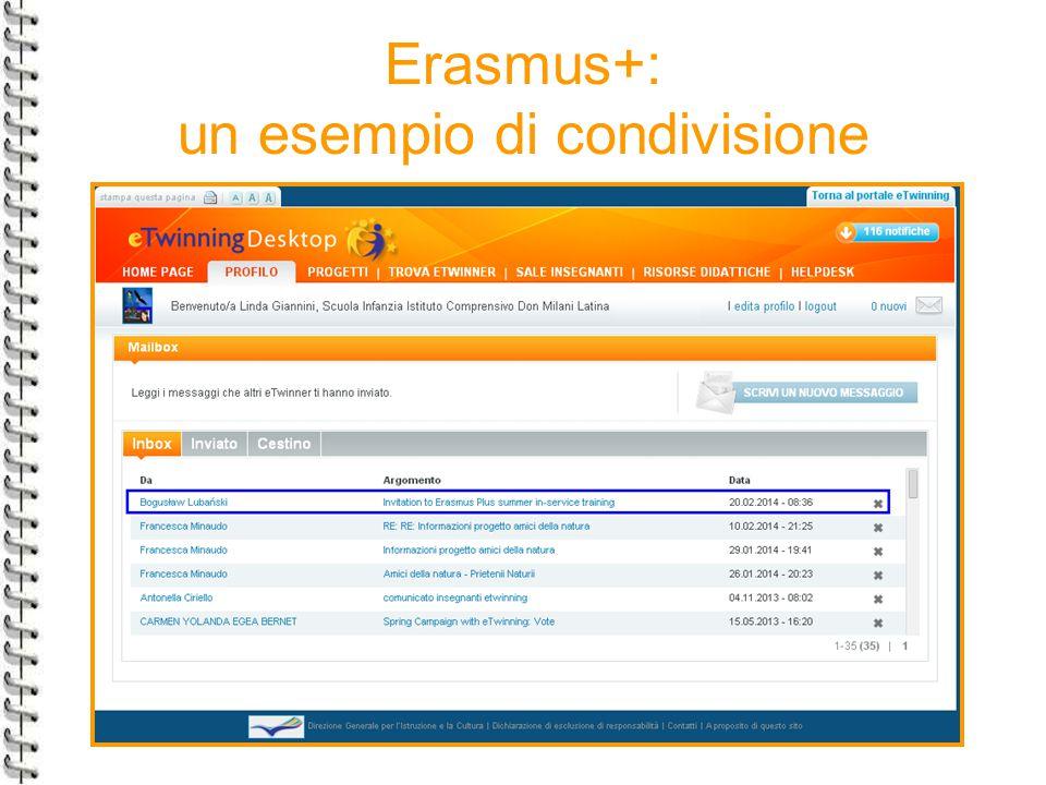 Erasmus+: un esempio di condivisione