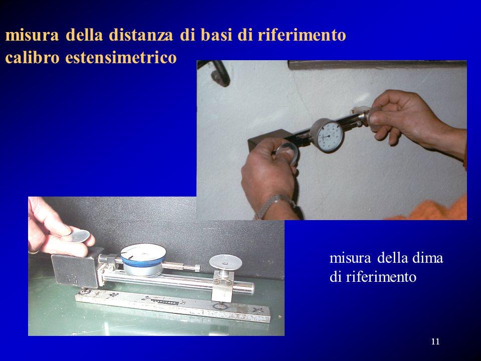 misura della distanza di basi di riferimento calibro estensimetrico misura della dima di riferimento 11
