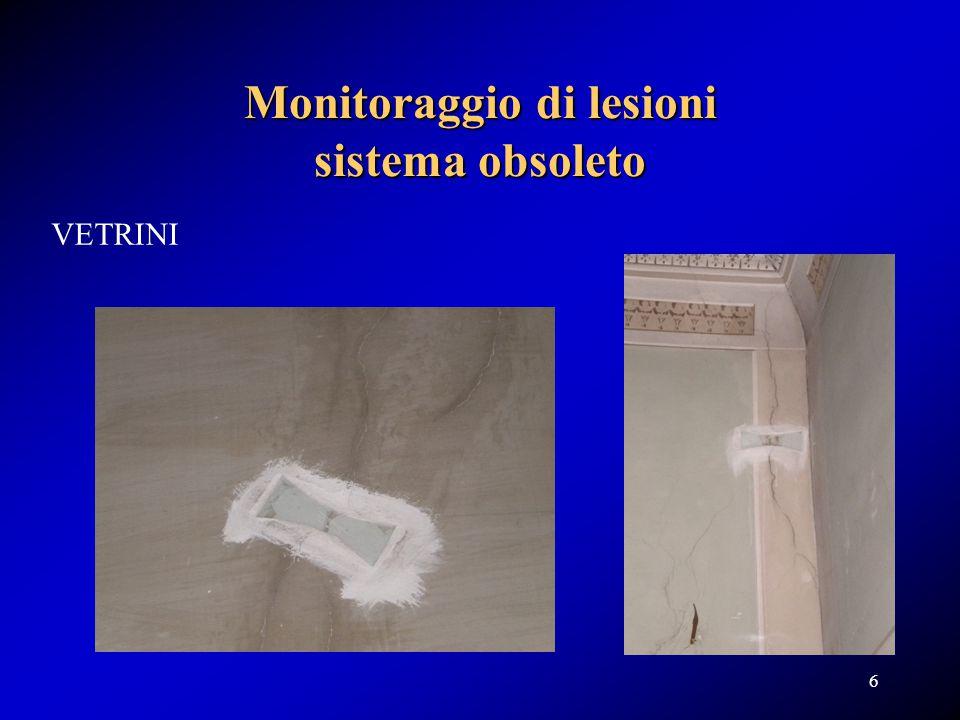 Monitoraggio di lesioni sistema obsoleto VETRINI 6
