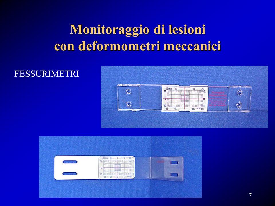 Fessurimetri Trasduttori di spostamento utilizzati come fessurimetri 18
