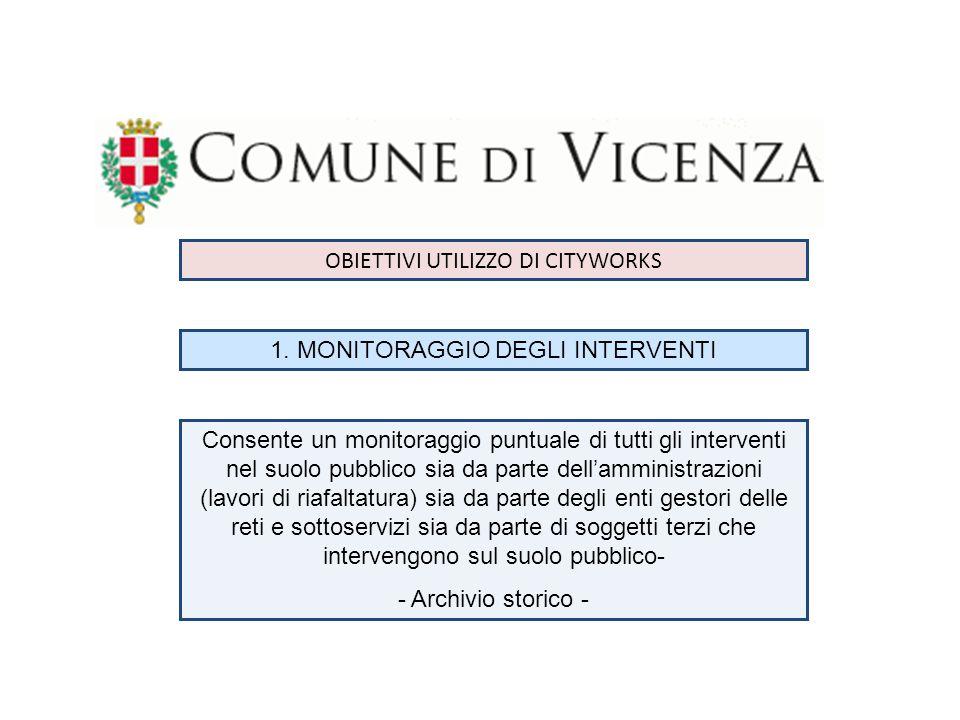 OBIETTIVI UTILIZZO DI CITYWORKS 1.
