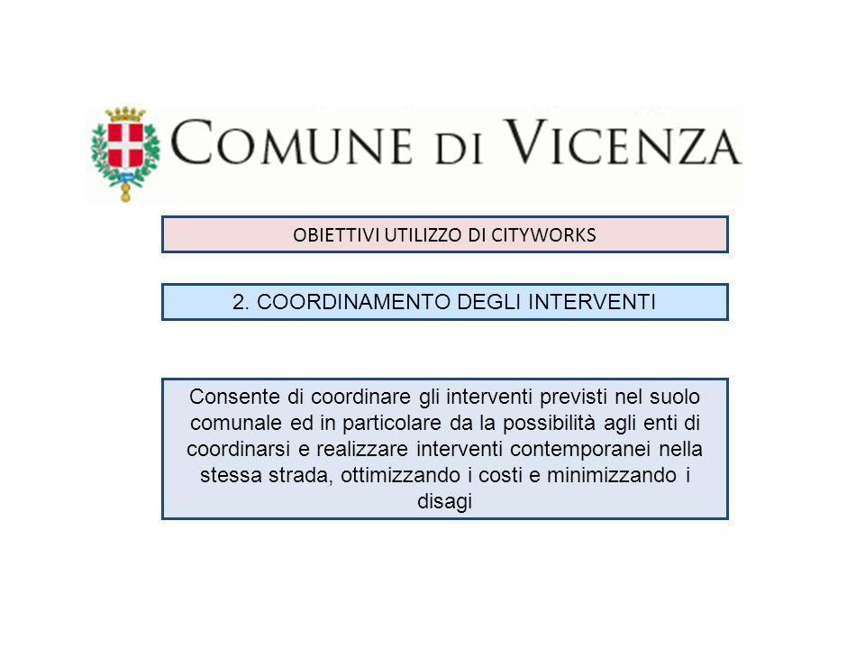 OBIETTIVI UTILIZZO DI CITYWORKS 3.