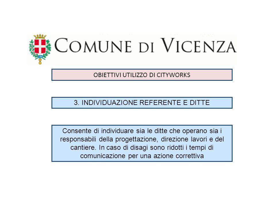 OBIETTIVI UTILIZZO DI CITYWORKS 4.
