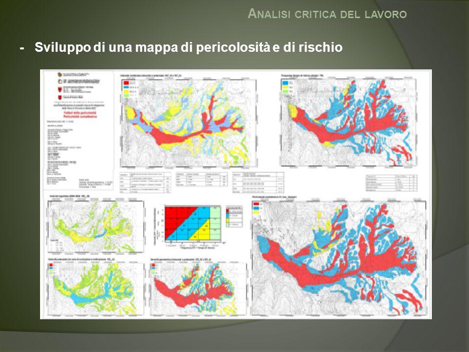 A NALISI CRITICA DEL LAVORO - Sviluppo di una mappa di pericolosità e di rischio