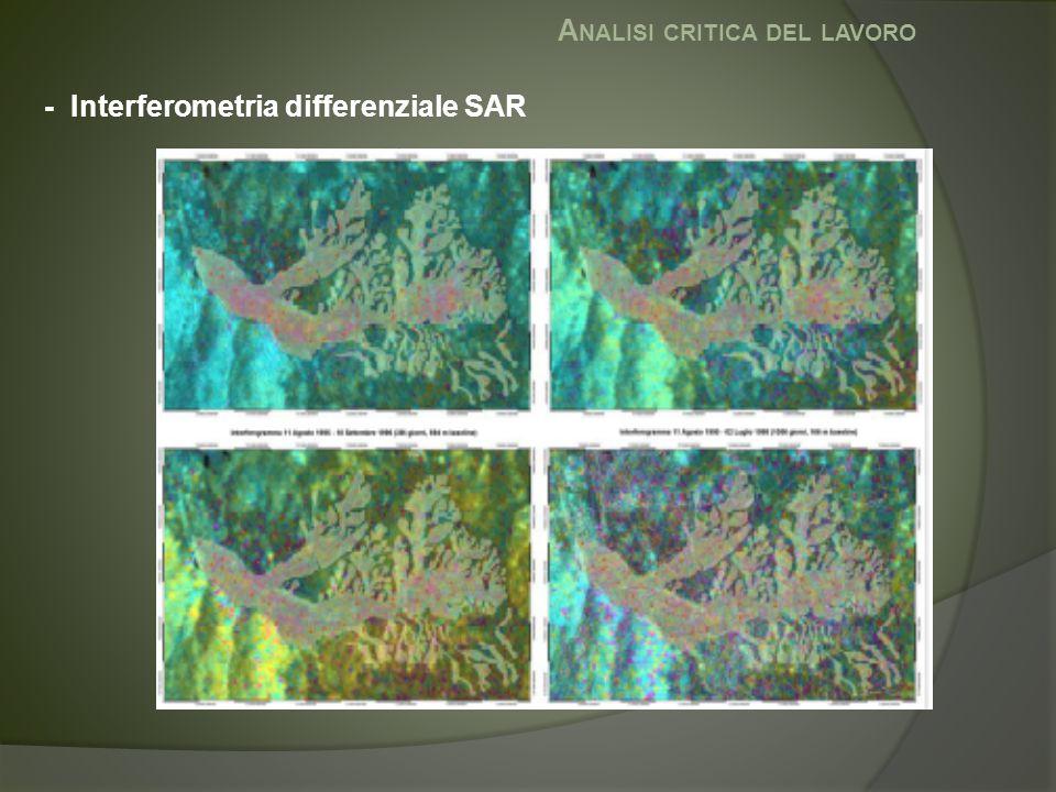 A NALISI CRITICA DEL LAVORO - Interferometria differenziale SAR