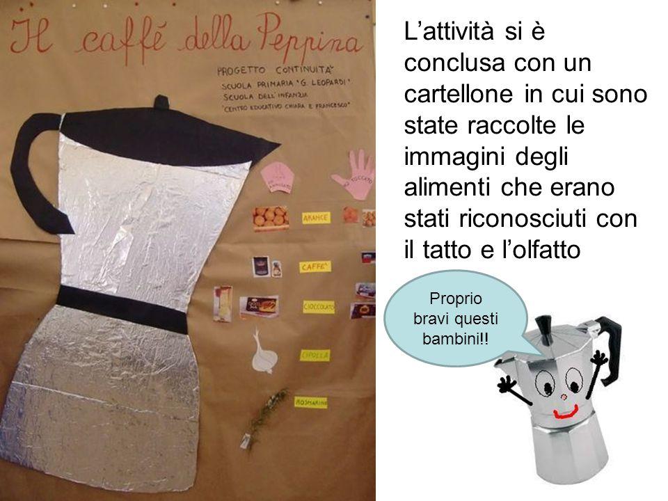 L'attività si è conclusa con un cartellone in cui sono state raccolte le immagini degli alimenti che erano stati riconosciuti con il tatto e l'olfatto