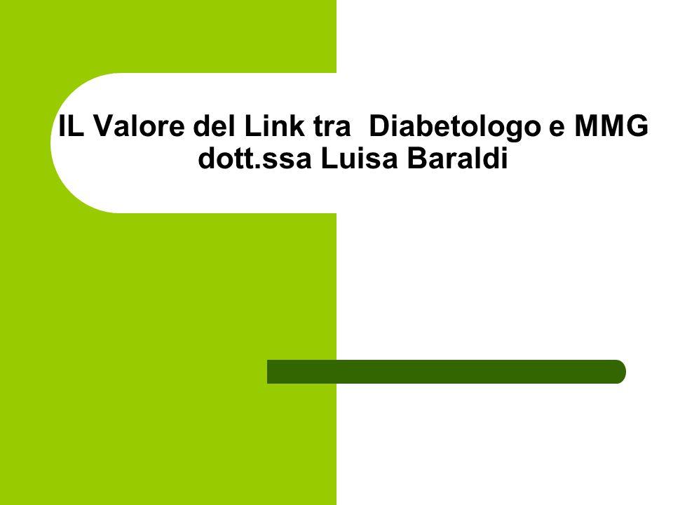 IL Valore del Link tra Diabetologo e MMG dott.ssa Luisa Baraldi
