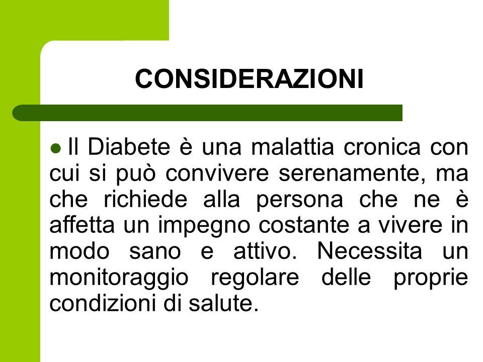 Il Diabete è una malattia cronica con cui si può convivere serenamente, ma che richiede alla persona che ne è affetta un impegno costante a vivere in modo sano e attivo.