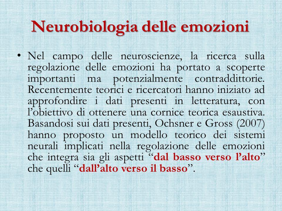 Neurobiologia delle emozioni Nel campo delle neuroscienze, la ricerca sulla regolazione delle emozioni ha portato a scoperte importanti ma potenzialmente contraddittorie.