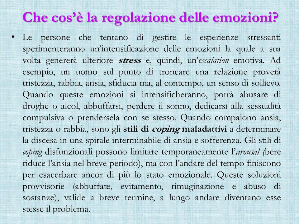 Che cos'è la regolazione delle emozioni.