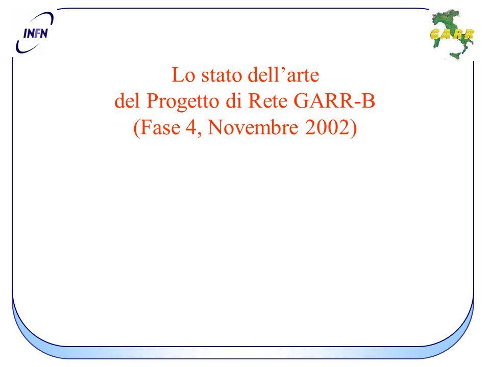 Lo stato dell'arte del Progetto di Rete GARR-B (Fase 4, Novembre 2002)