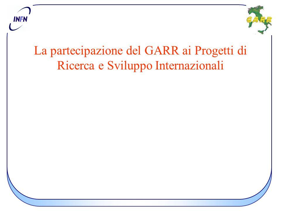 La partecipazione del GARR ai Progetti di Ricerca e Sviluppo Internazionali