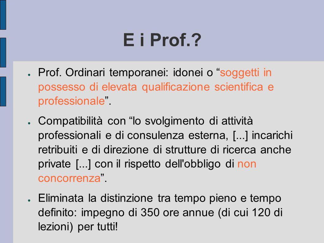 E i Prof.. ● Prof.