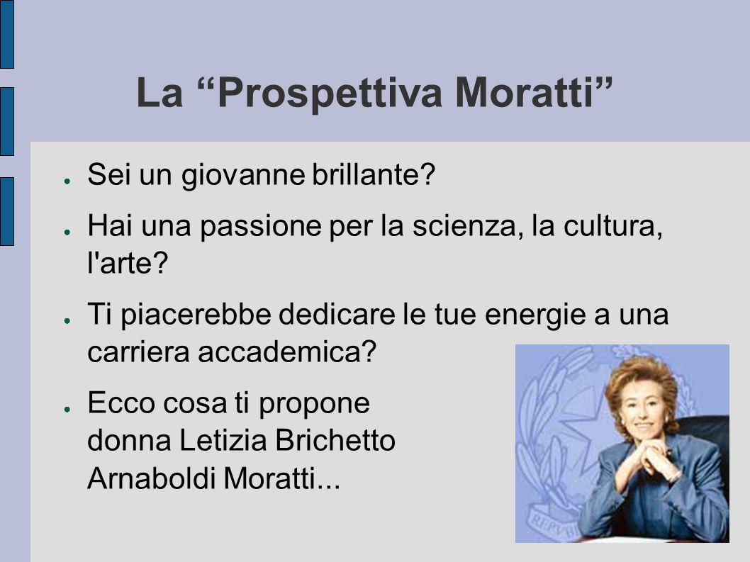La Prospettiva Moratti ● Sei un giovanne brillante.