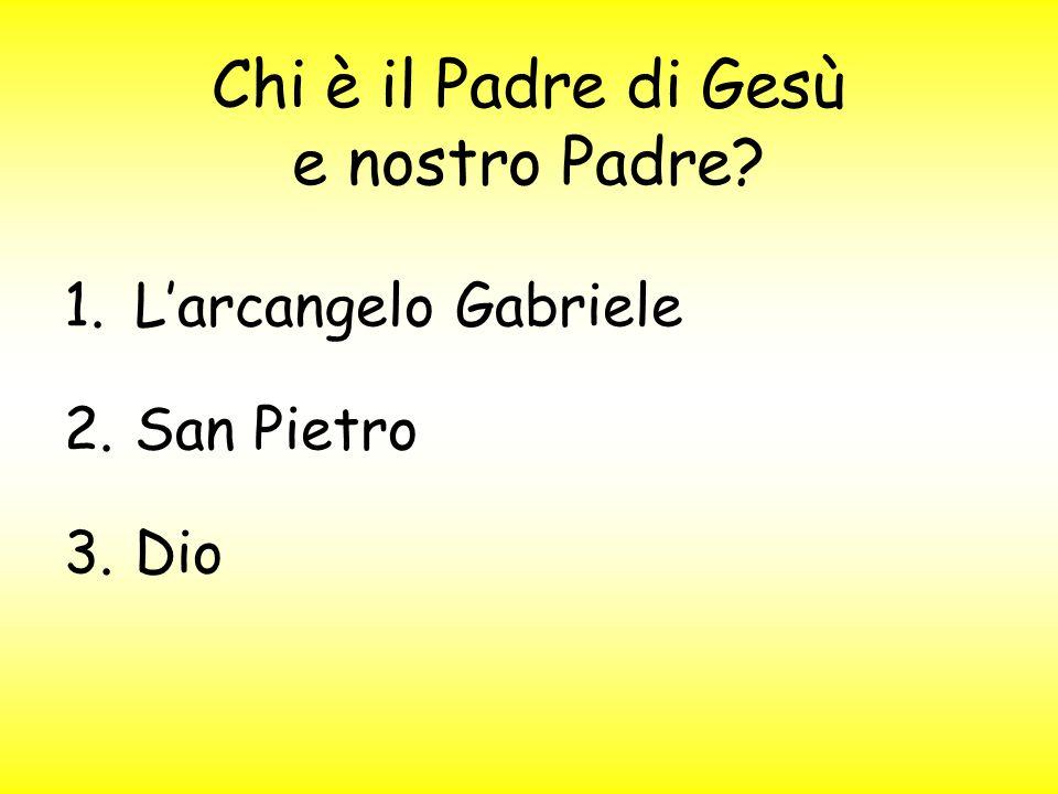 Chi è il Padre di Gesù e nostro Padre? 1.L'arcangelo Gabriele 2.San Pietro 3.Dio