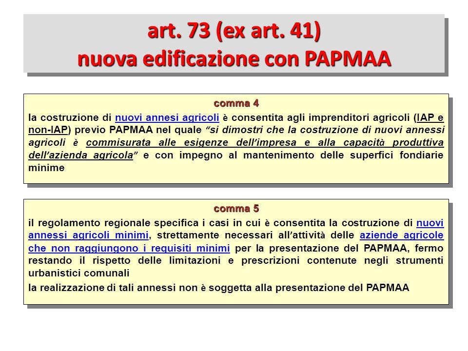 comma 5 il regolamento regionale specifica i casi in cui è consentita la costruzione di nuovi annessi agricoli minimi, strettamente necessari all ' at