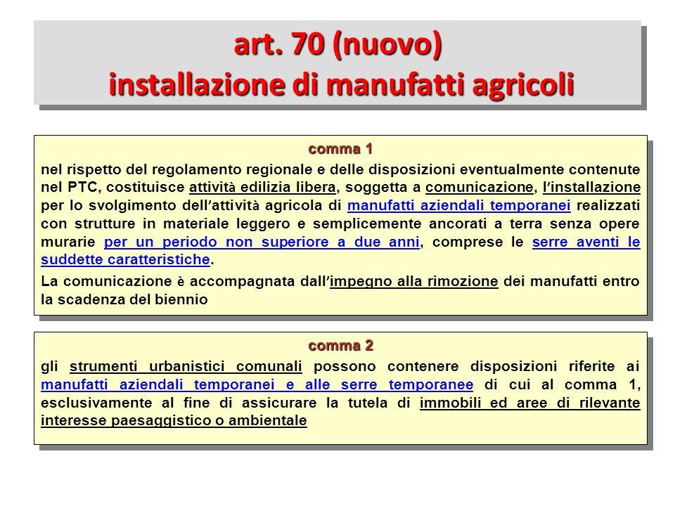 comma 2 gli strumenti urbanistici comunali possono contenere disposizioni riferite ai manufatti aziendali temporanei e alle serre temporanee di cui al