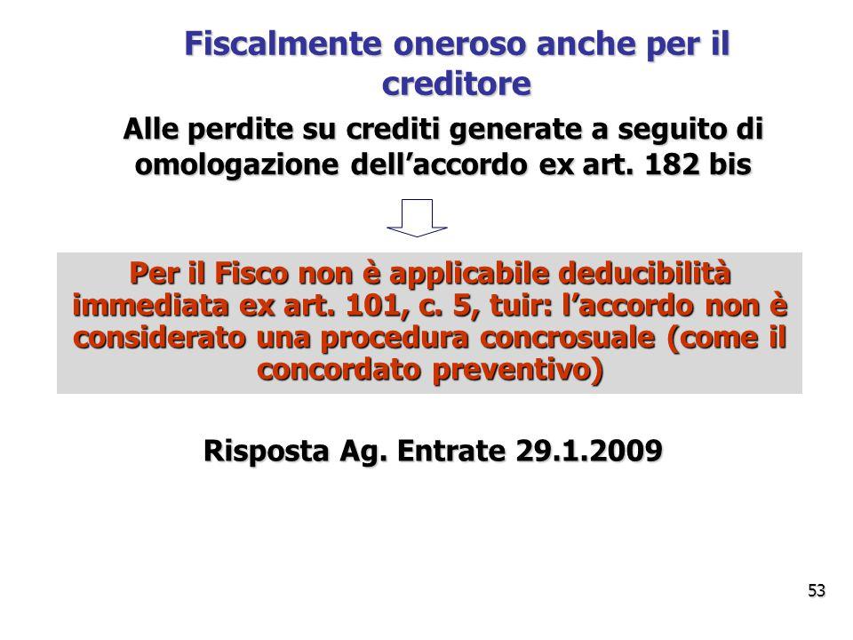 Alle perdite su crediti generate a seguito di omologazione dell'accordo ex art.