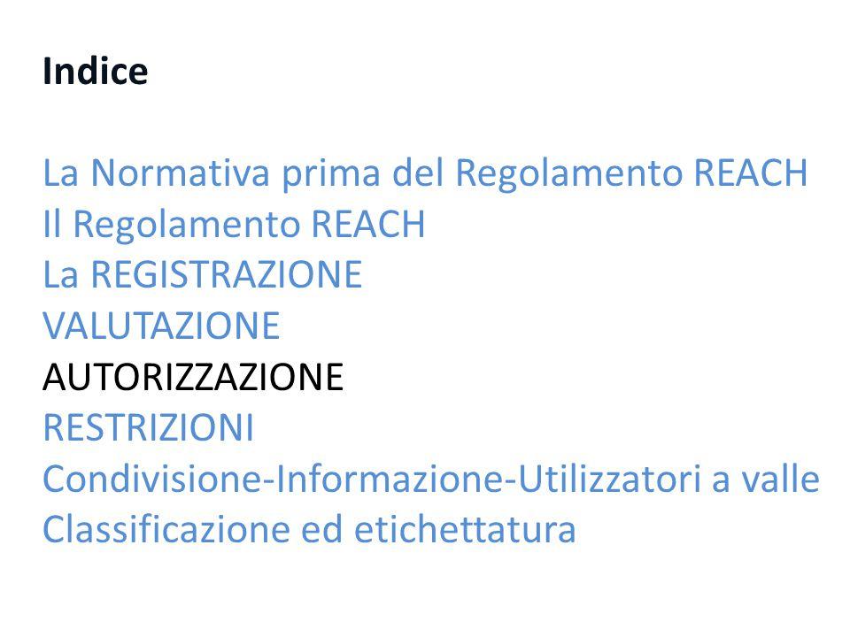 2° raccomandazione dell'ECHA alla Commissione Risultati della prioritizzazione delle SVHCs nella Candidate List per la 2° raccomandazione http://echa.europa.eu/documents/10162/13640/prioritisation_results_2nd _rec_20100701_en.pdf Prioritizzate 8 sostanze su 18 in quel momento presenti in candidate list