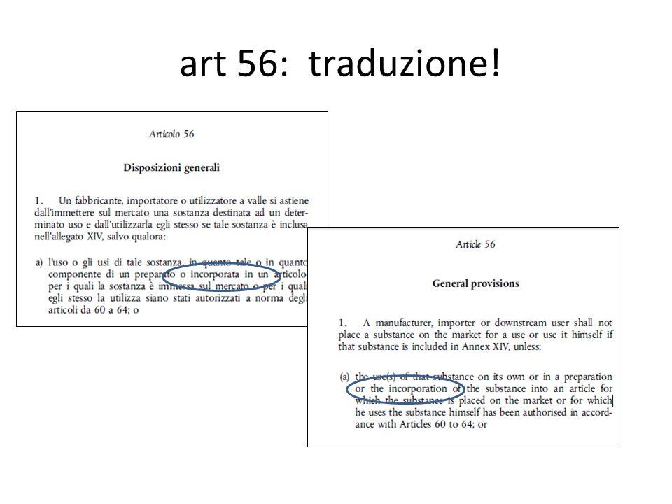Come è fatto l'Allegato XIV Per ogni sostanza in Annex XIV ci saranno {Art.
