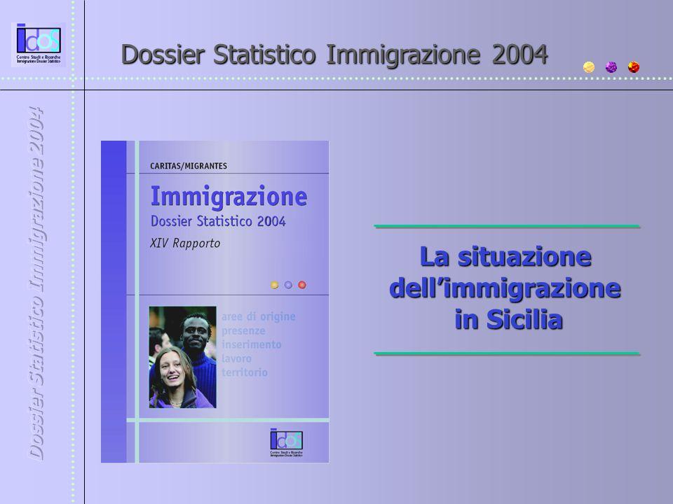 Dossier Statistico Immigrazione 2004 La situazione dell'immigrazione in Sicilia in Sicilia