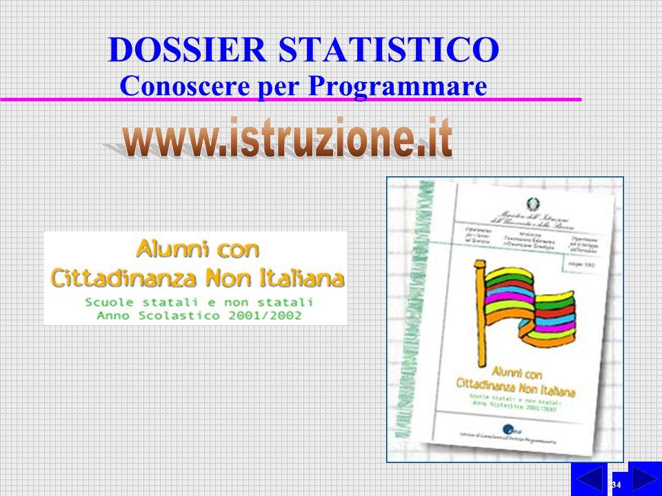 34 DOSSIER STATISTICO Conoscere per Programmare