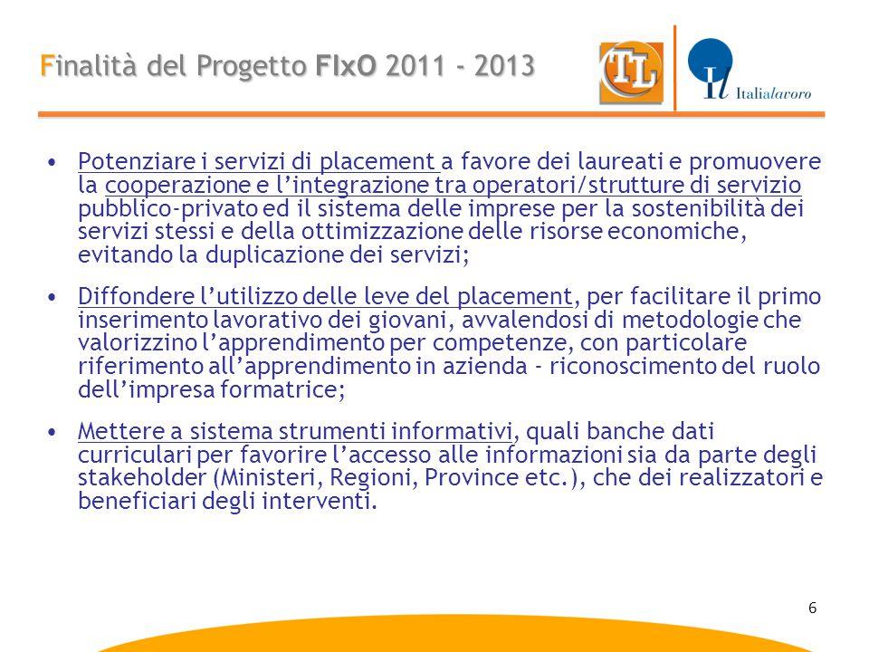 6 Potenziare i servizi di placement a favore dei laureati e promuovere la cooperazione e l'integrazione tra operatori/strutture di servizio pubblico-p