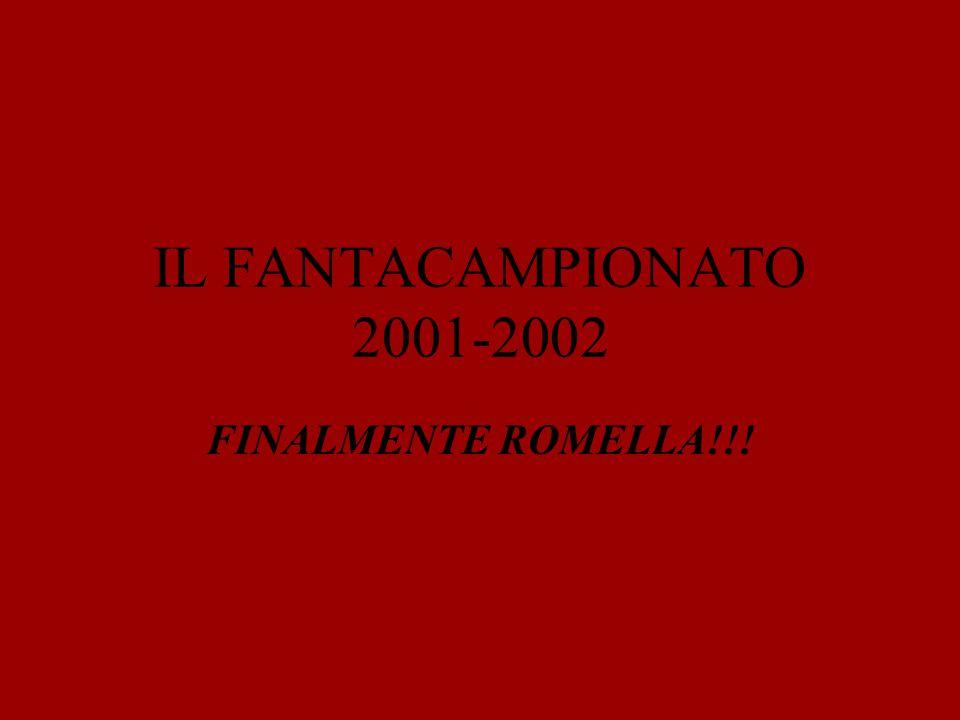 IL FANTACAMPIONATO 2001-2002 FINALMENTE ROMELLA!!!