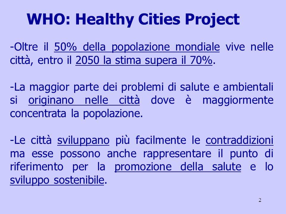 2 -Oltre il 50% della popolazione mondiale vive nelle città, entro il 2050 la stima supera il 70%.