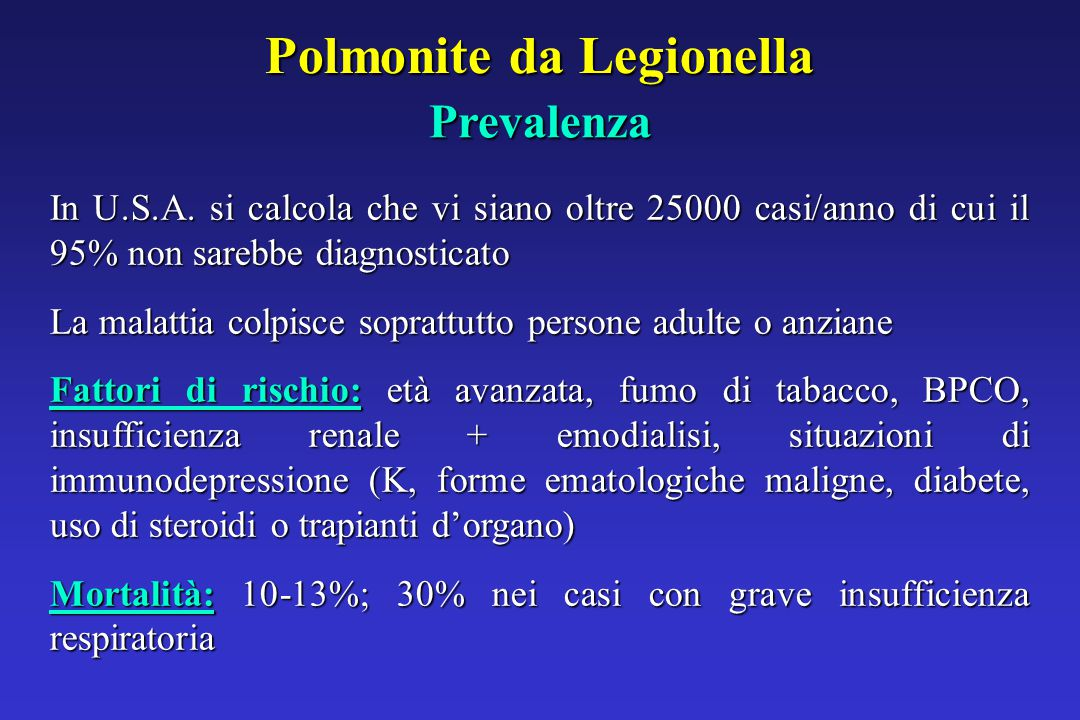 Polmonite da Legionella In U.S.A.